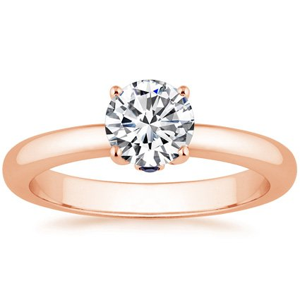 14K Rose Gold Serendipity Ring, top view