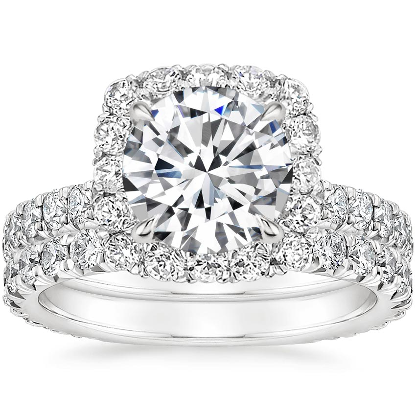 Platinum Estelle Diamond Bridal Set (1 1/3 ct. tw.)