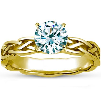 Round 18K Yellow Gold Inverness Ring