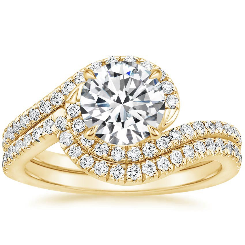 18K Yellow Gold Venus Diamond Bridal Set (1/2 ct. tw.)