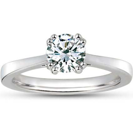 Platinum Cherish Ring, top view