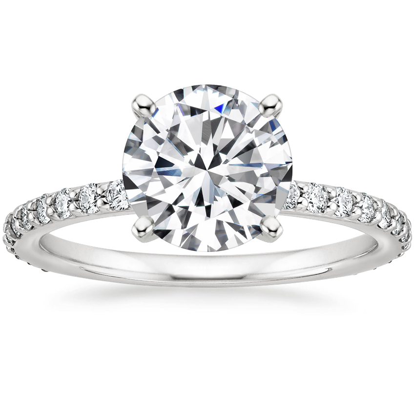 Round Luxe Petite Shared Prong Diamond Ring