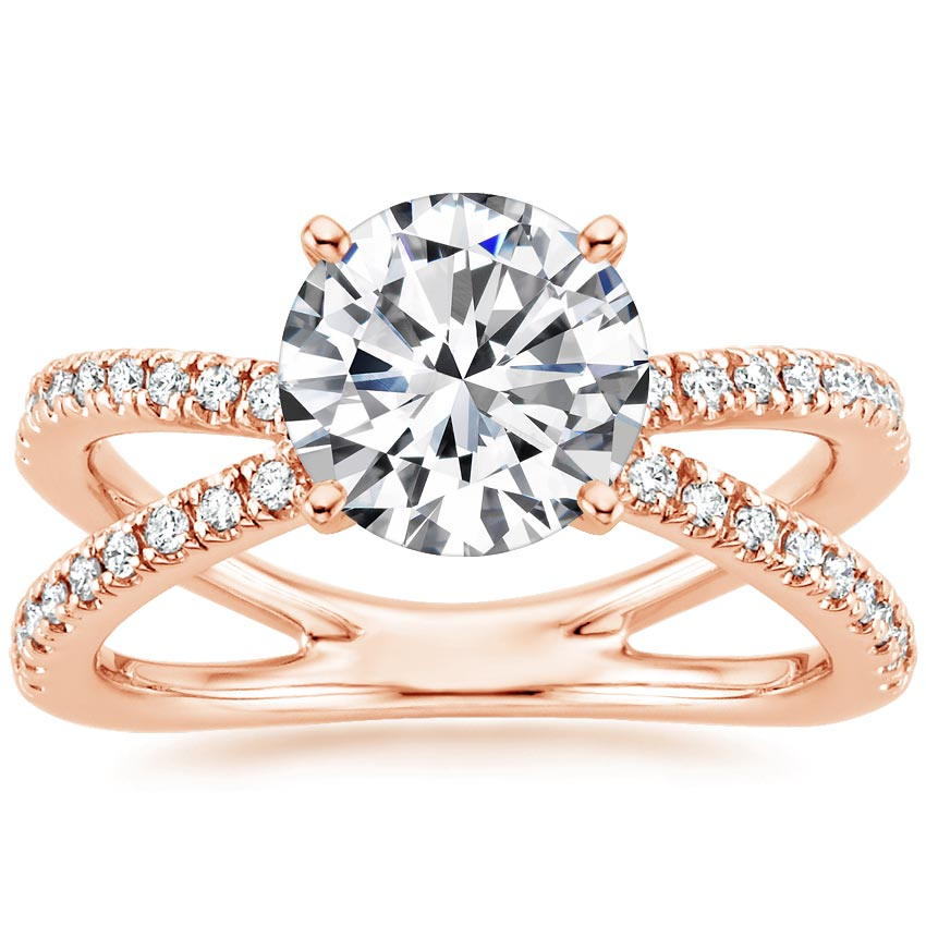 Round 14K Rose Gold Bisou Diamond Ring (1/3 ct. tw.)
