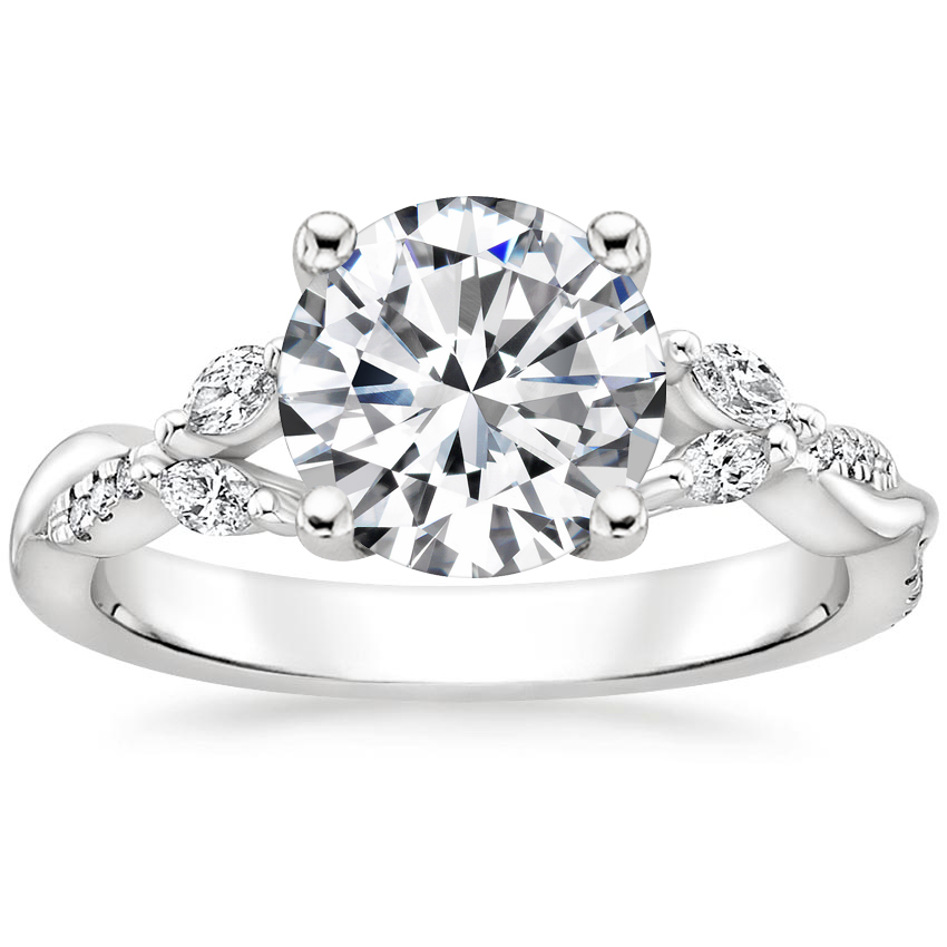 Round Vine Pavé Diamond Ring