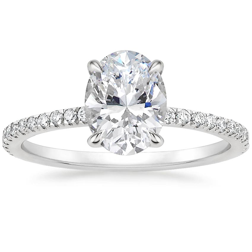 Oval Surprise Diamond Pavé Ring