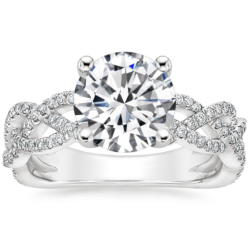 Round Entwined Vine Engagement Ring