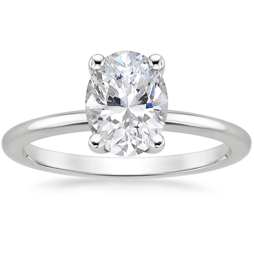 Oval Platinum Perfect Fit Diamond Ring