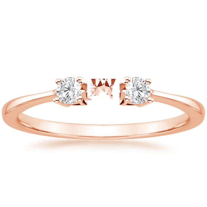 round do rose gold four engagement ring solitaire amore asha prong rings classic
