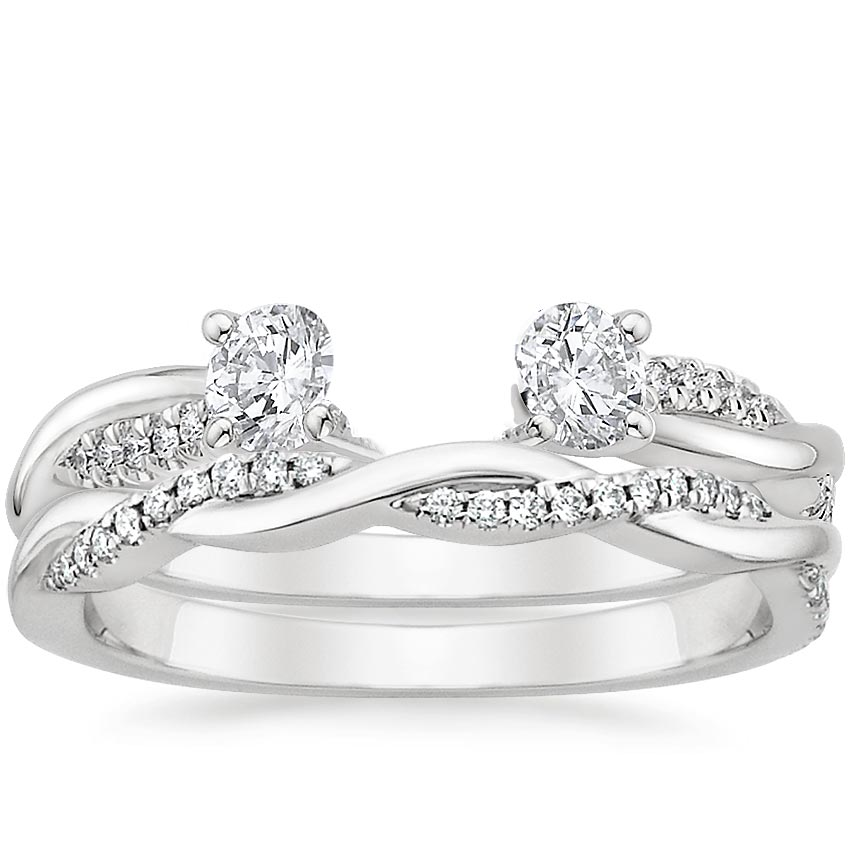 set round rings cut band twist engagement diamond prong twisted ring