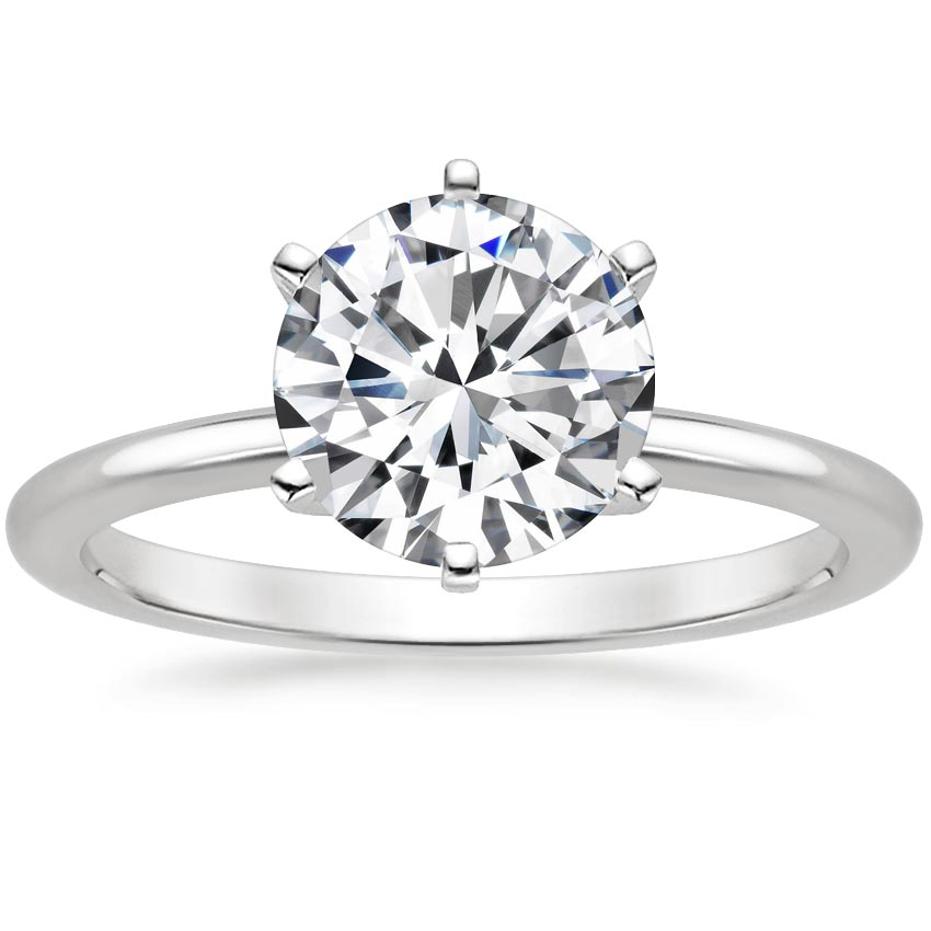 Round Classic Solitaire Ring