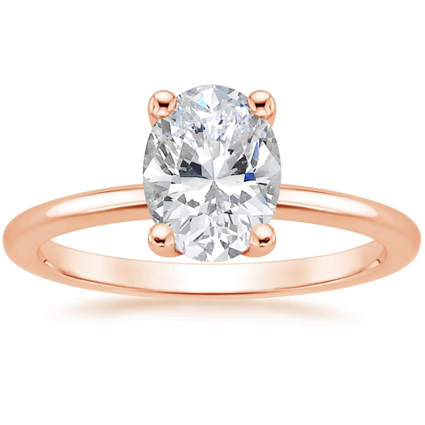 Oval 14K Rose Gold Perfect Fit Diamond Ring