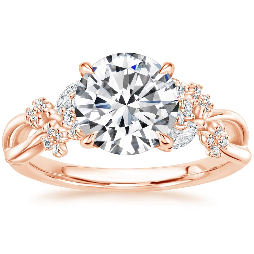 Round 14K Rose Gold Summer Blossom Diamond Ring (1/4 ct. tw.)