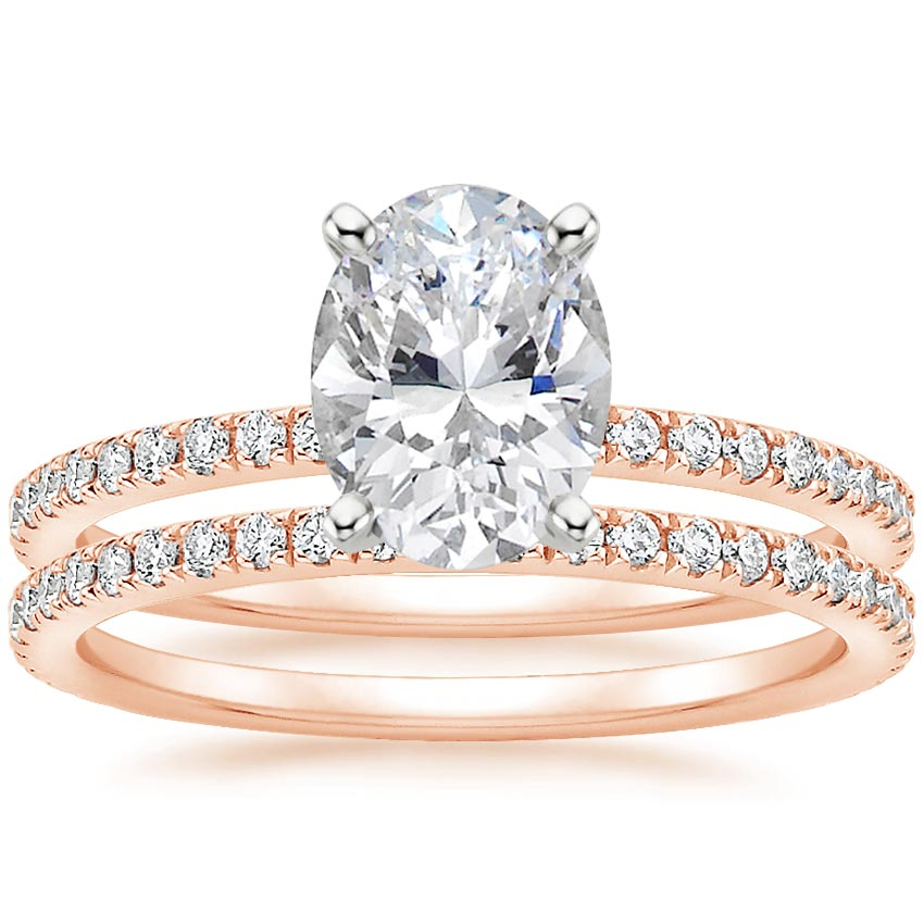 14K Rose Gold Luxe Ballad Bridal Set (1/2 ct. tw.)