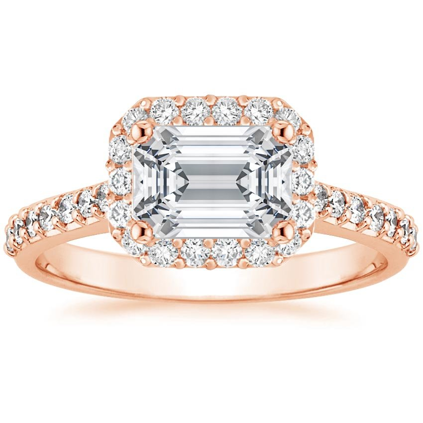 Emerald 14K Rose Gold Aurelia Diamond Ring