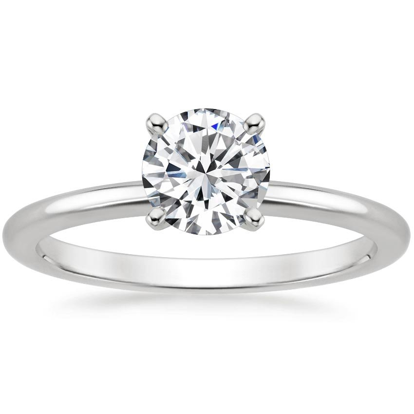 Top Twenty Engagement Rings - FOUR-PRONG PETITE COMFORT FIT RING