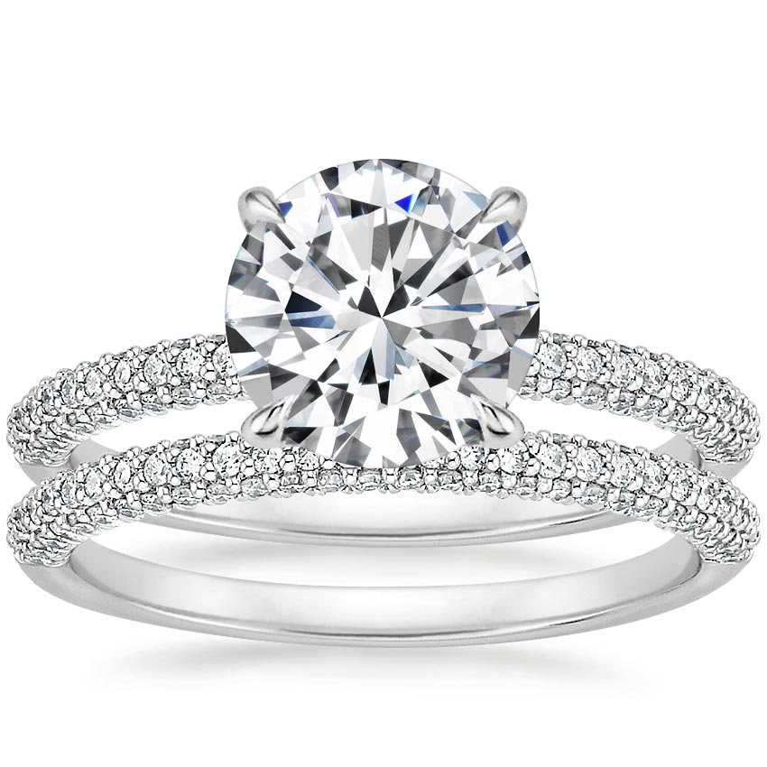 18K White Gold Valencia Diamond Bridal Set (5/8 ct. tw.)