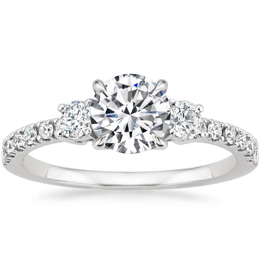 Pavé Diamond Engagement Ring   Radiance   Brilliant Earth - photo #5