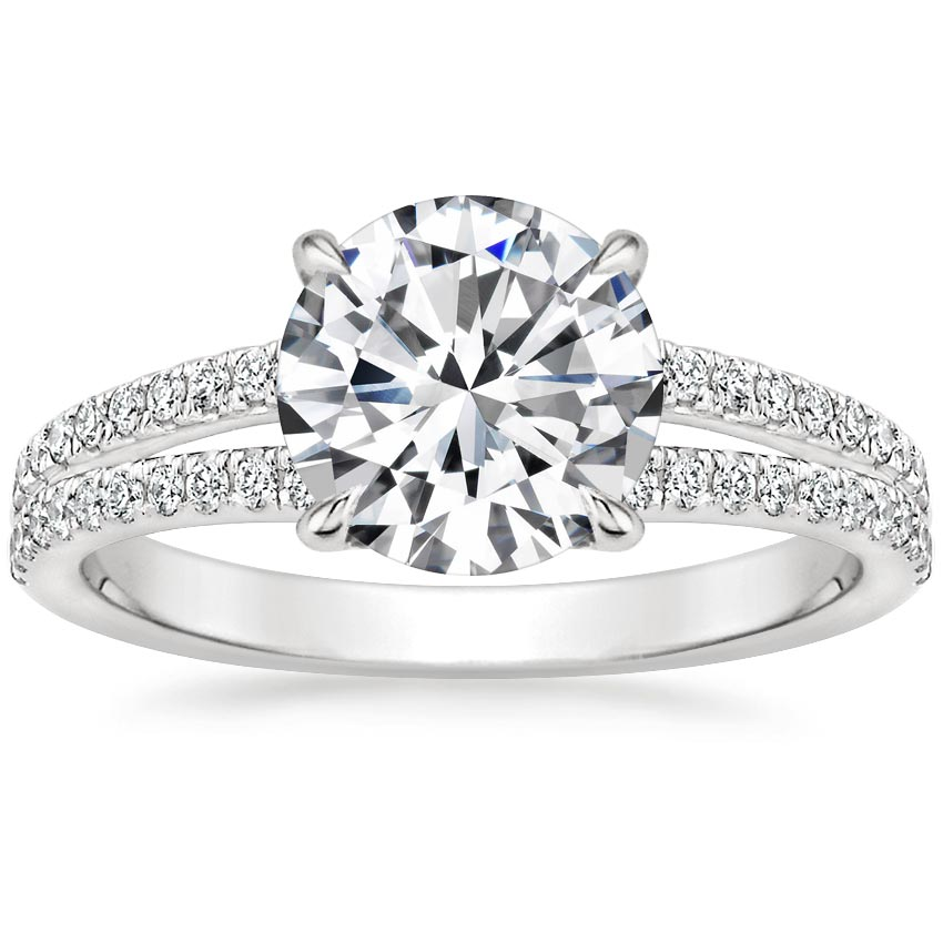 Round Split Shank Basket Engagement Ring