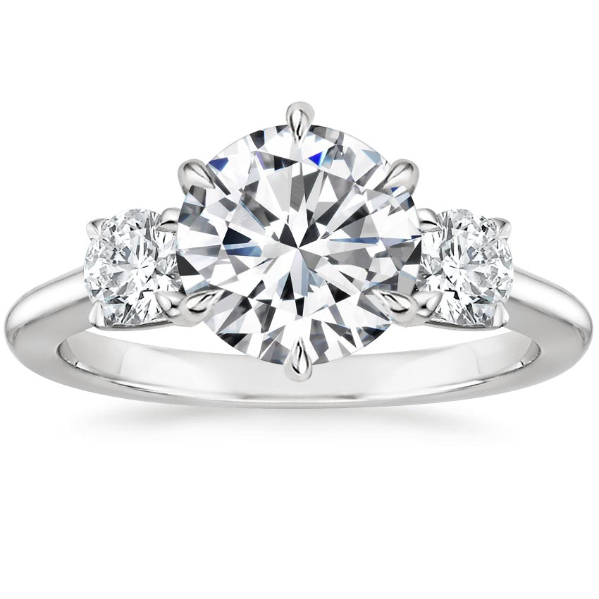 Round Three Stone Diamond Ring