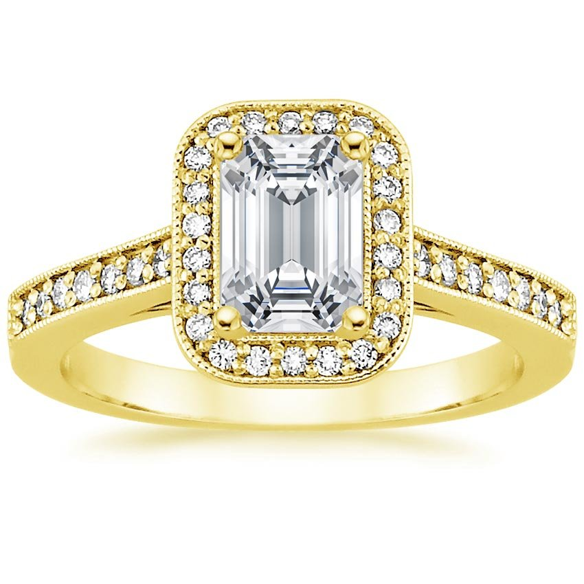 18K Yellow Gold Felicity Diamond Ring (1/4 ct. tw.), top view