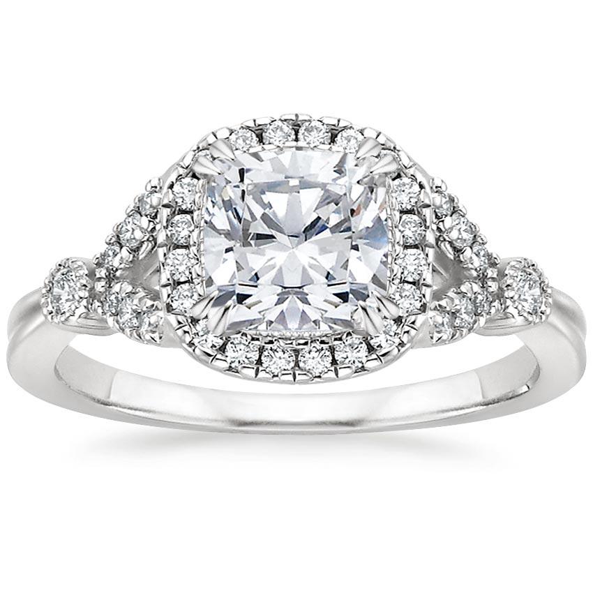 cushion vintage flower engagement ring - Flower Wedding Ring