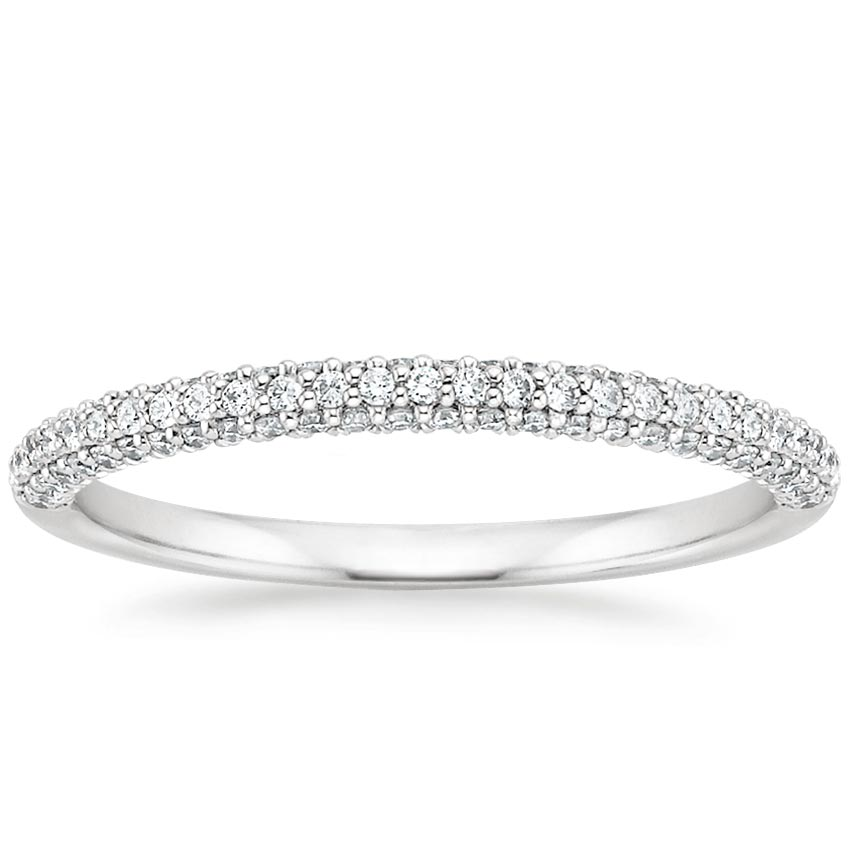 bands diamond white eternity band gold uneek pave and