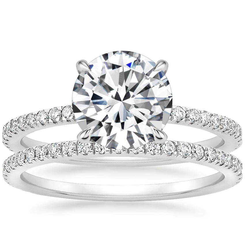 18K White Gold Viviana Diamond Bridal Set (1/2 ct. tw.)