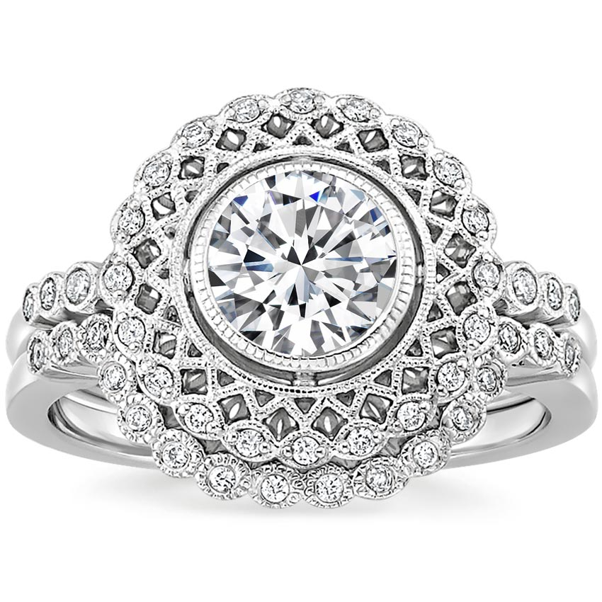 Platinum Alvadora Diamond Bridal Set