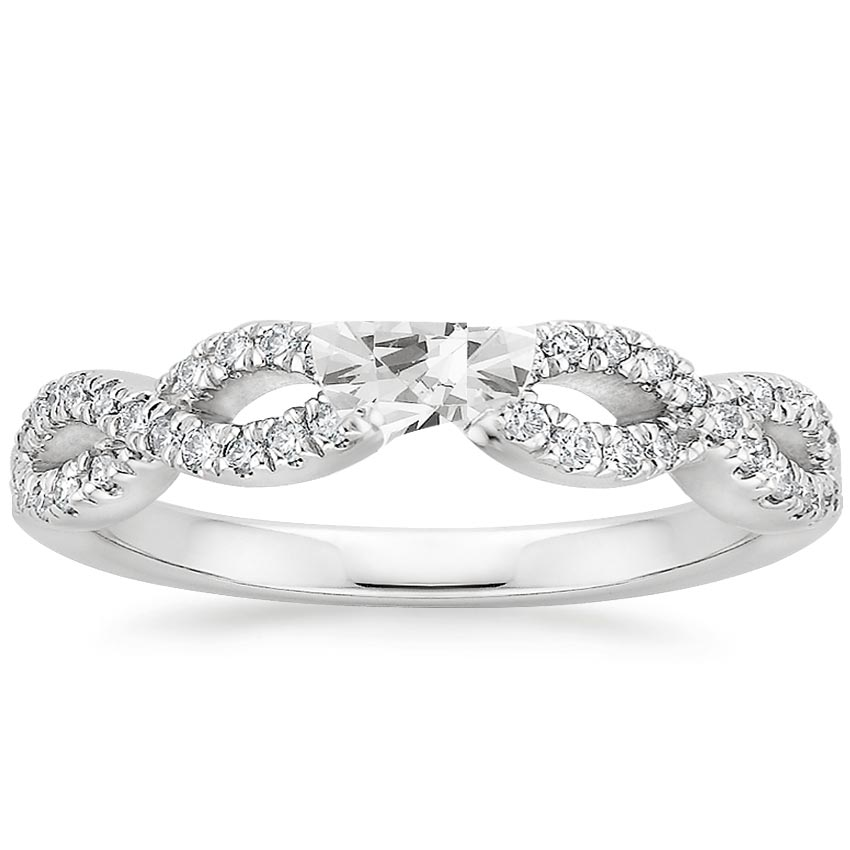 18k white gold infinity diamond ring - Infinity Wedding Rings
