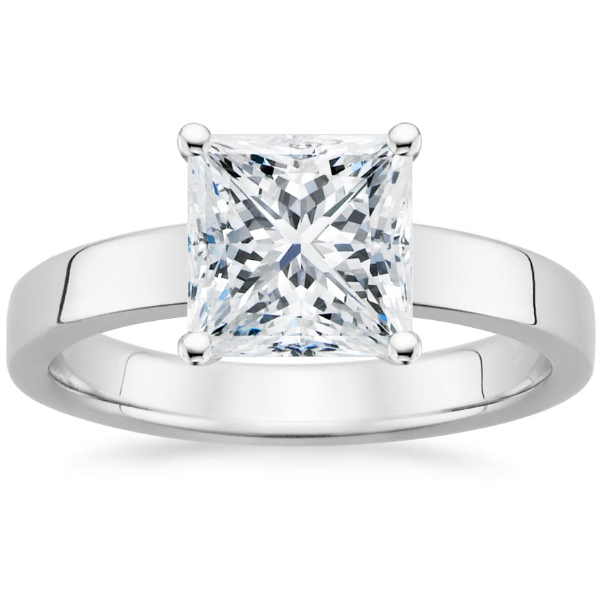 Princess Contemporary Solitaire Engagement Ring