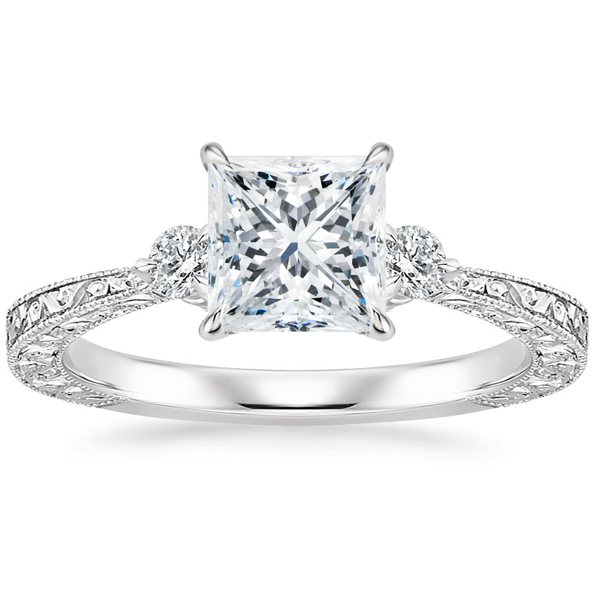 Princess Platinum Bristol Diamond Ring