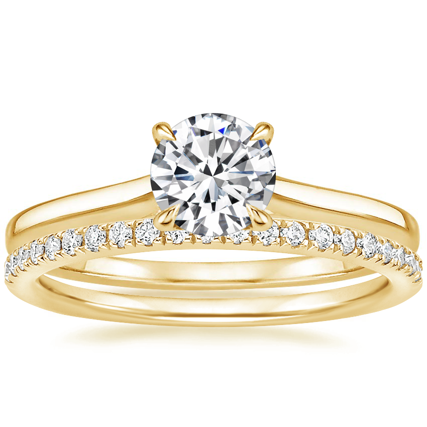 18K Yellow Gold Provence Ring with Ballad Diamond Ring (1/6 ct. tw.)