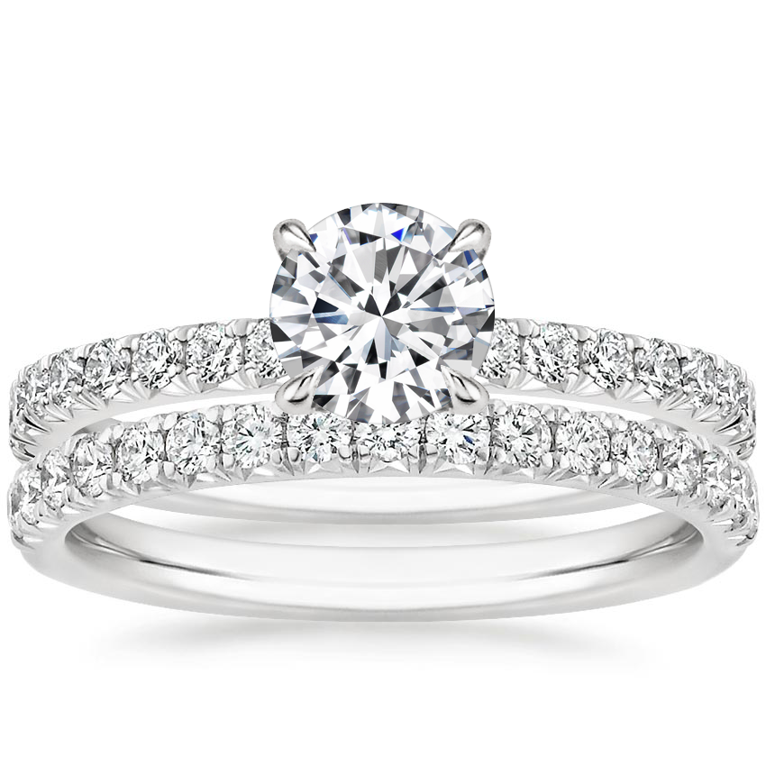18K White Gold Amelie Diamond Bridal Set