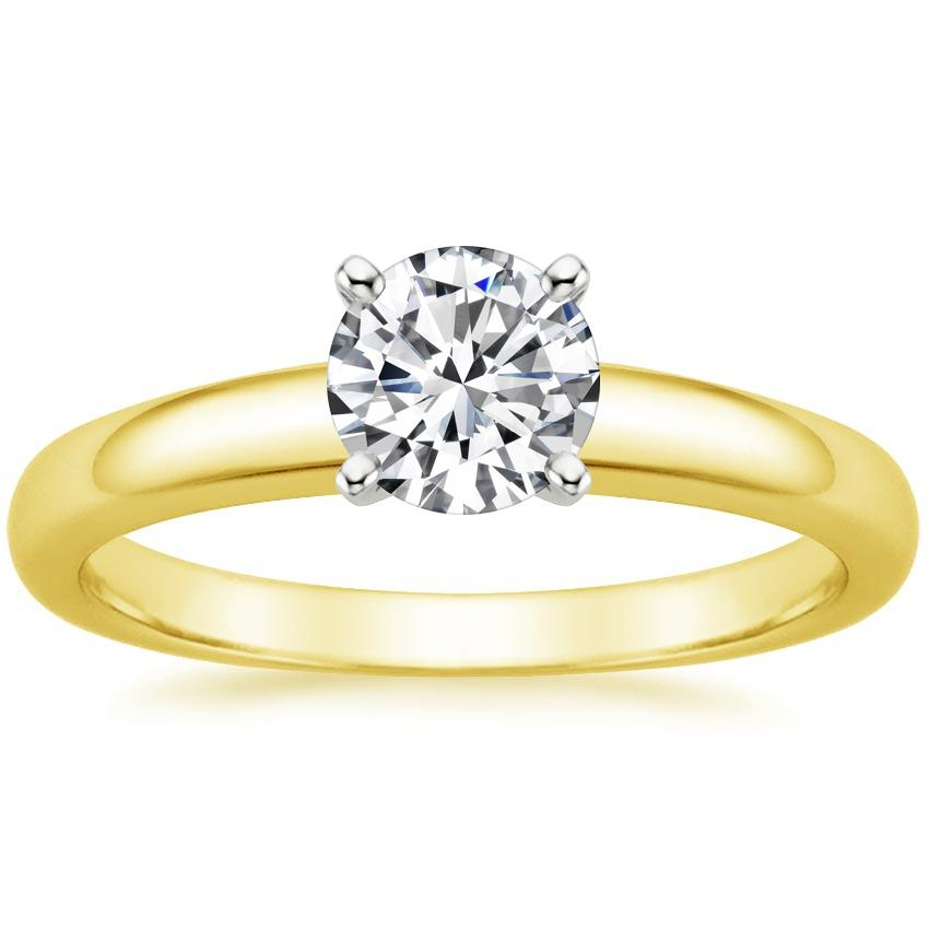 Round 18K Yellow Gold 3mm Comfort Fit Ring