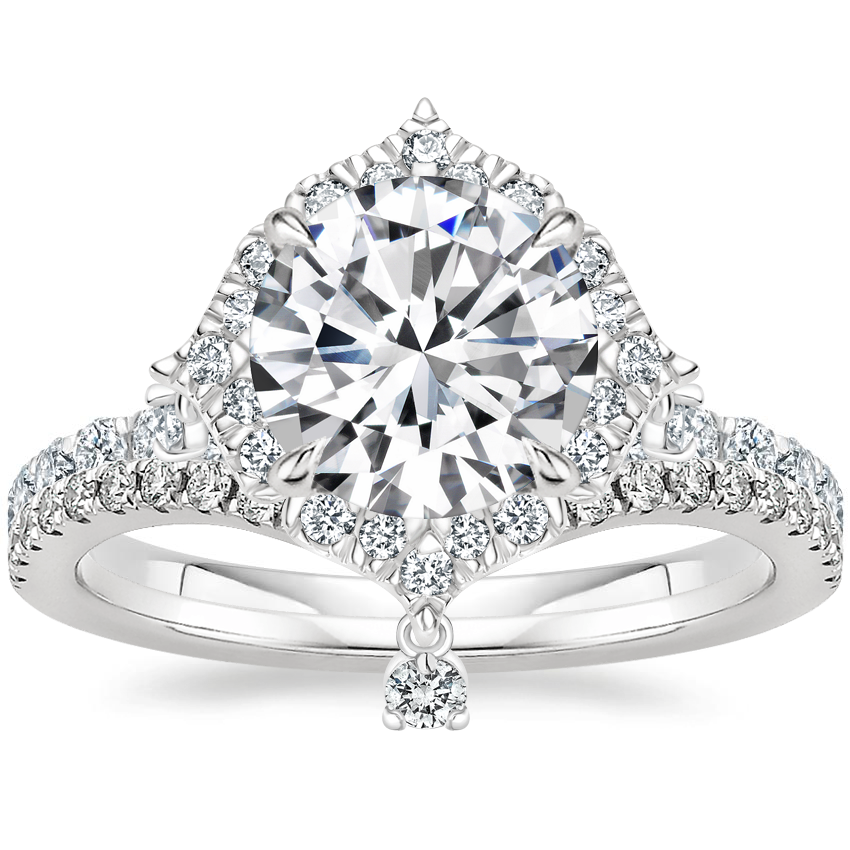 Platinum Summer Rain Diamond Ring (3/4 ct. tw.) with Flair Diamond Ring (1/6 ct. tw.)