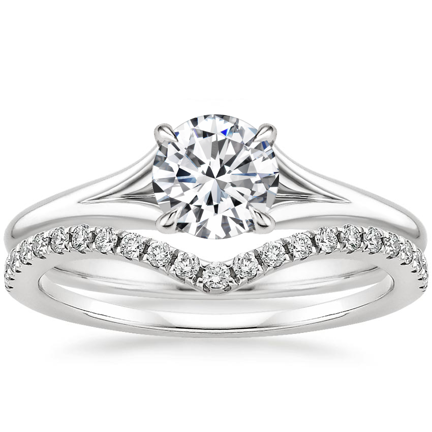 18K White Gold Reverie Ring with Flair Diamond Ring (1/6 ct. tw.)