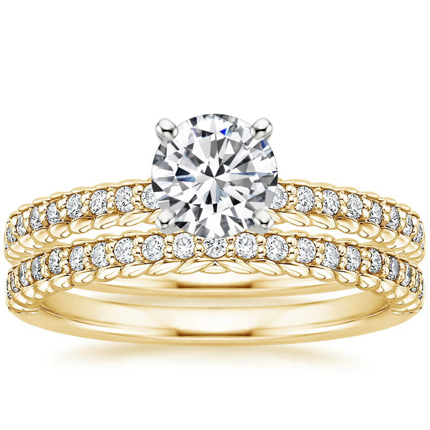 18K Yellow Gold Corda Diamond Bridal Set (1/4 ct. tw.)