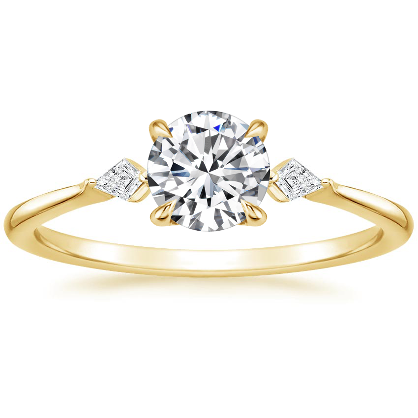 Round 18K Yellow Gold Cometa Diamond Ring