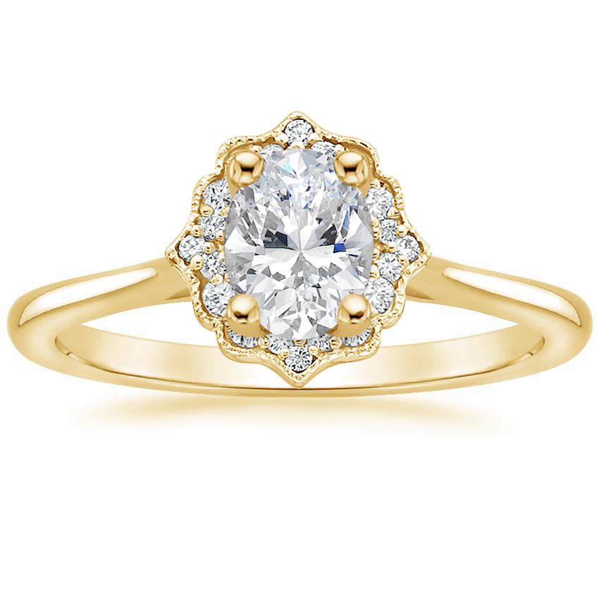Oval 18K Yellow Gold Coralie Diamond Ring