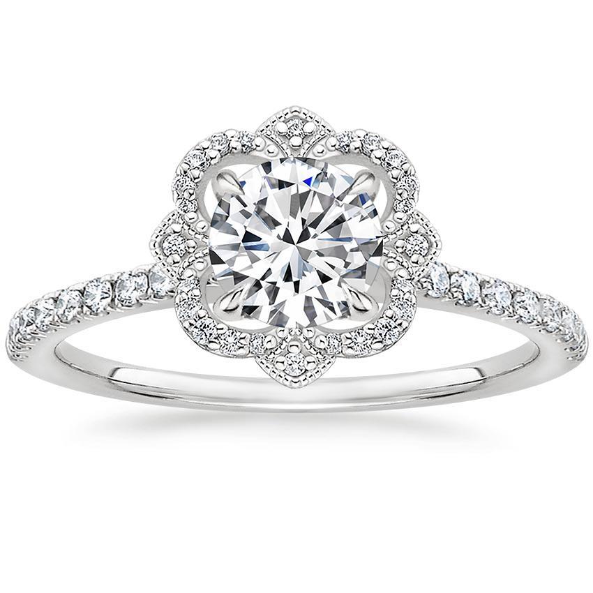18k white gold reina diamond ring 1 4 ct tw. Black Bedroom Furniture Sets. Home Design Ideas