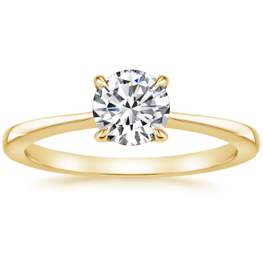 Round 18K Yellow Gold Elle Ring