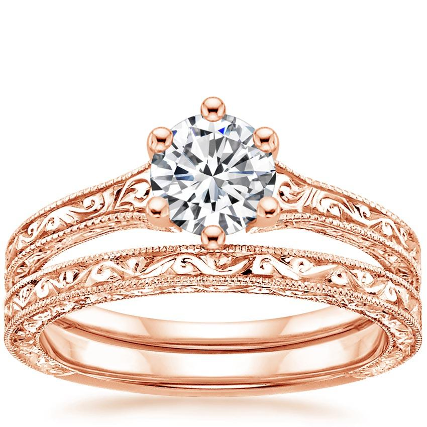 14K Rose Gold Hudson Bridal Set