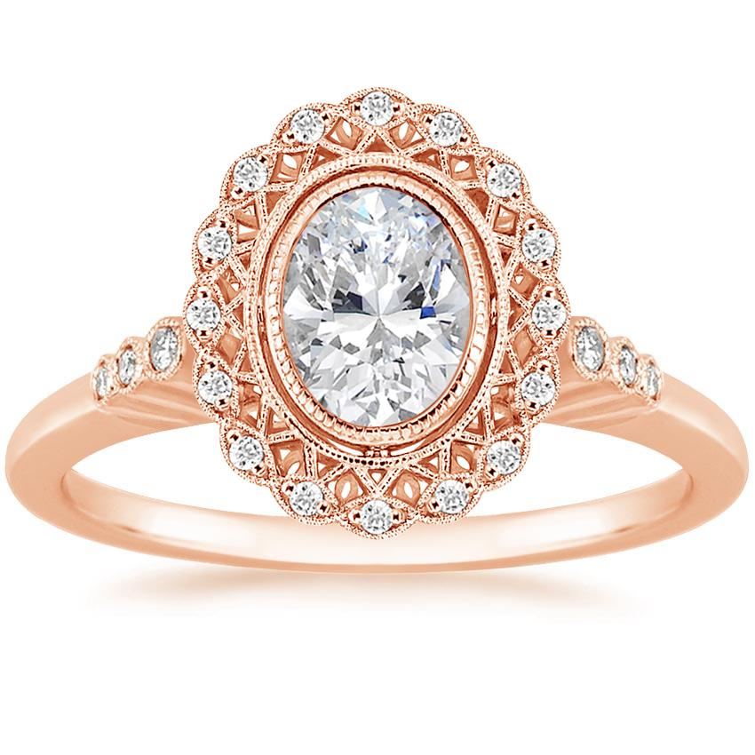 Oval 14K Rose Gold Alvadora Diamond Ring