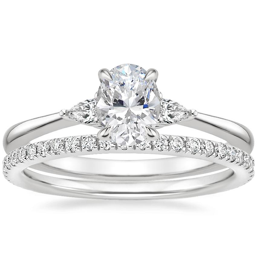 18K White Gold Aria Diamond Ring with Luxe Ballad Diamond Ring (1/4 ct. tw.)
