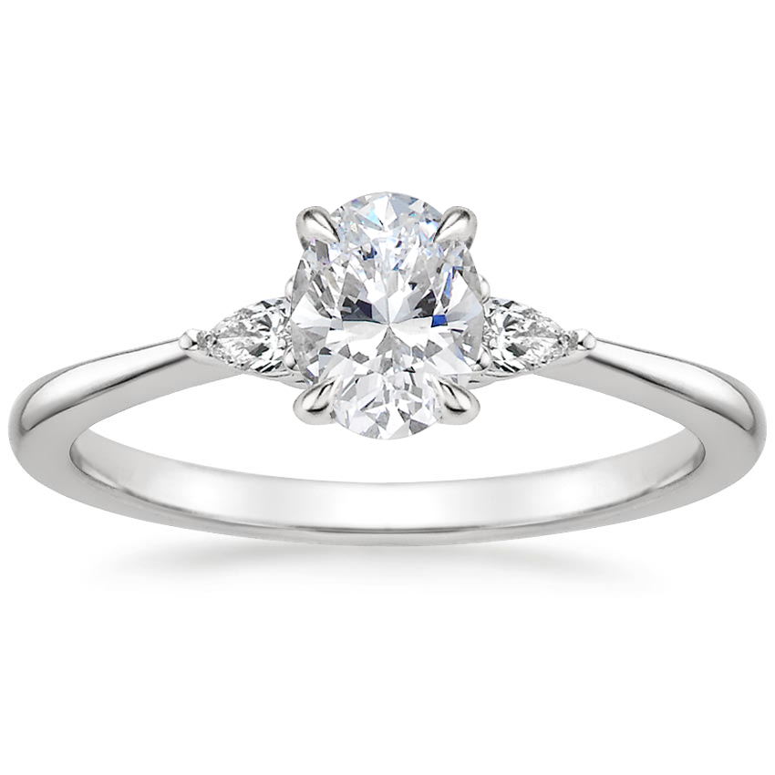 Oval Platinum Aria Diamond Ring (1/10 ct. tw.)