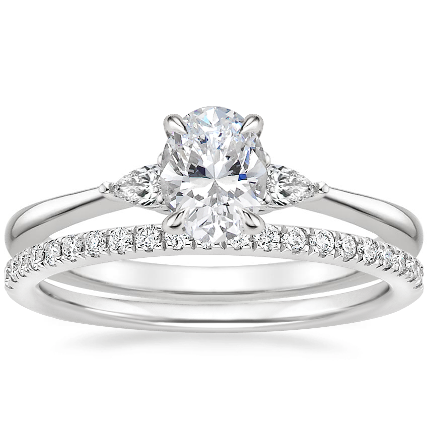 18K White Gold Aria Diamond Ring with Ballad Diamond Ring (1/6 ct. tw.)