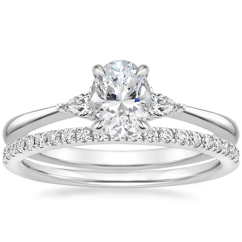 Platinum Aria Diamond Ring with Ballad Diamond Ring (1/6 ct. tw.)