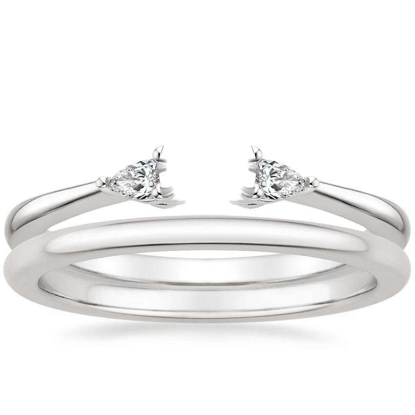 18K White Gold Aria Diamond Ring with Petite Comfort Fit Wedding