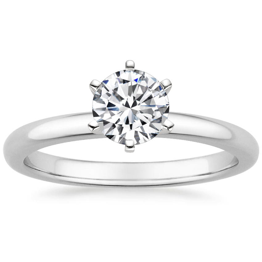 Round Six-Prong 2mm Comfort Fit Engagement Ring