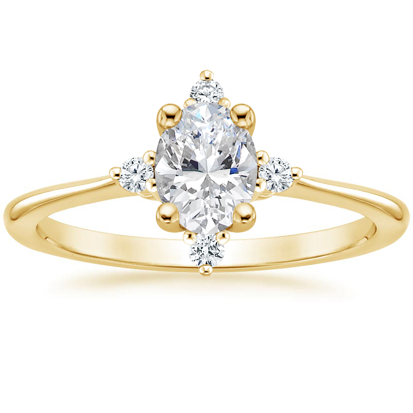 Oval 18K Yellow Gold Luminesce Diamond Ring